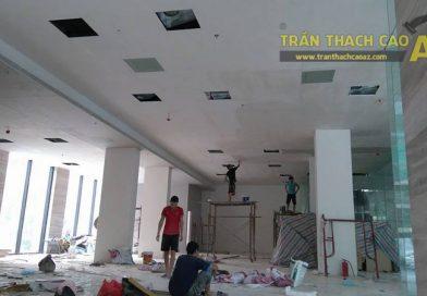 Thi công trần thạch cao văn phòng cho công ty anh Phúc, Ngõ 54 Nguyễn Chí Thanh, Đống Đa, Hà Nội