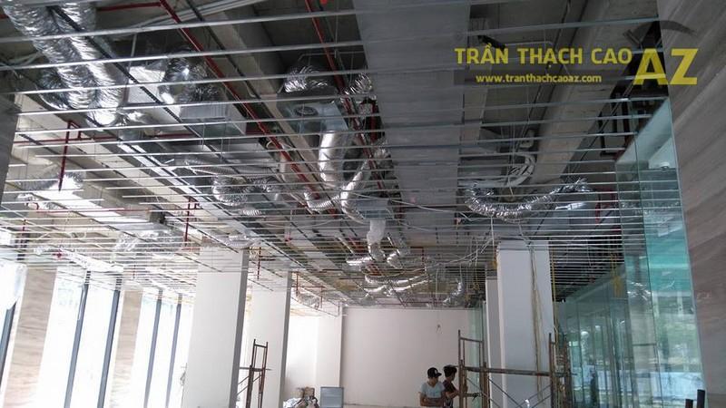 Thi công trần thạch cao văn phòng cho công ty anh Phúc, Ngõ 54 Nguyễn Chí Thanh, Đống Đa, Hà Nội -01