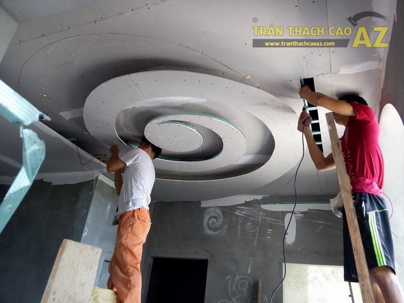 Trần thạch cao biệt thự cách tân cổ điển tại nhà anh Khoa, Phú Lương, Hà Đông
