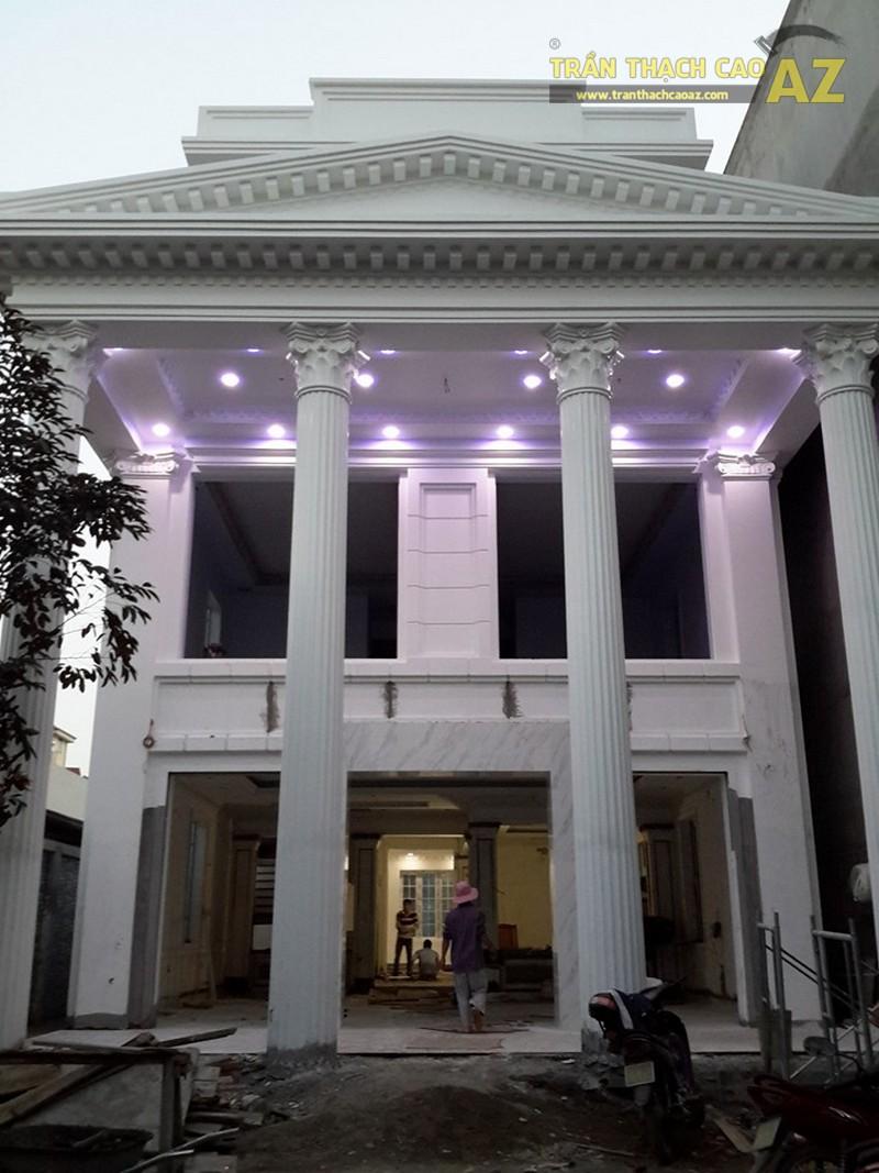 Trần thạch cao biệt thự nhà chú Tuệ, Vinhomes Riverside, Long Biên, Hà Nội