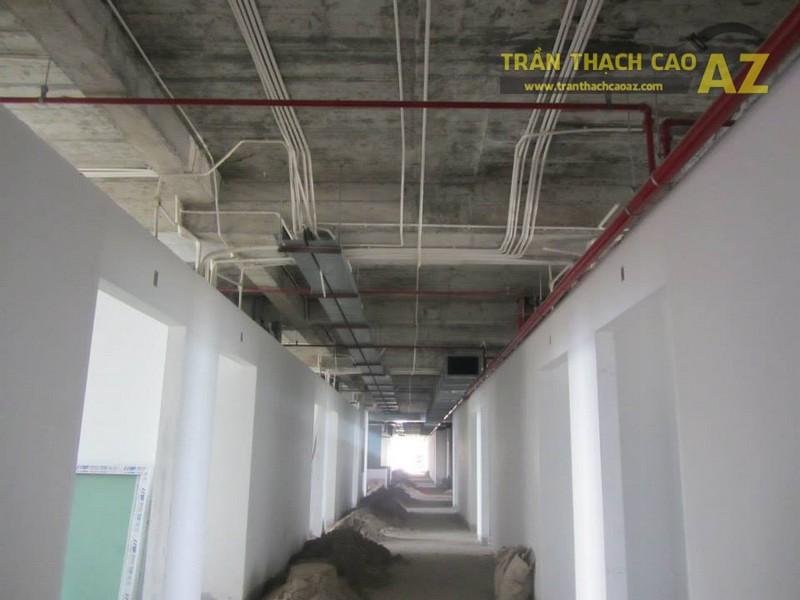 Thi công trần thạch cao tại Bệnh viện quốc tế Hải Phòng