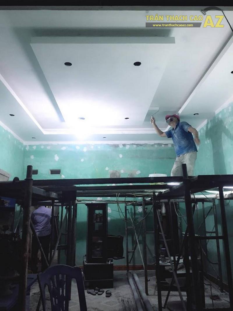 Thi công trần thạch cao nhà cấp 4 cho gia đình cô Huệ, Hoàng Hoa Thám, Hà Nội
