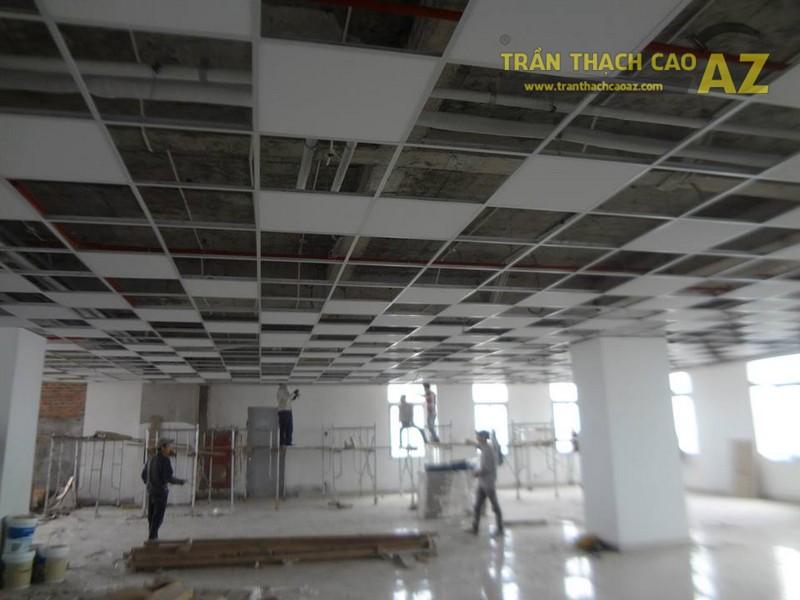 Thi công trần thạch cao cho Công ty sản xuất Mỹ Ký, Đông Anh, Hà Nội