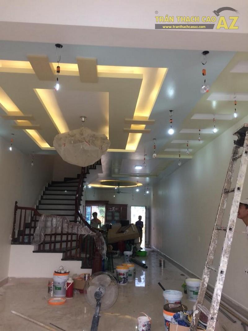 Thi công trần thạch cao nhà ống cho nhà anh Vững, Đông Anh, Hà Nội
