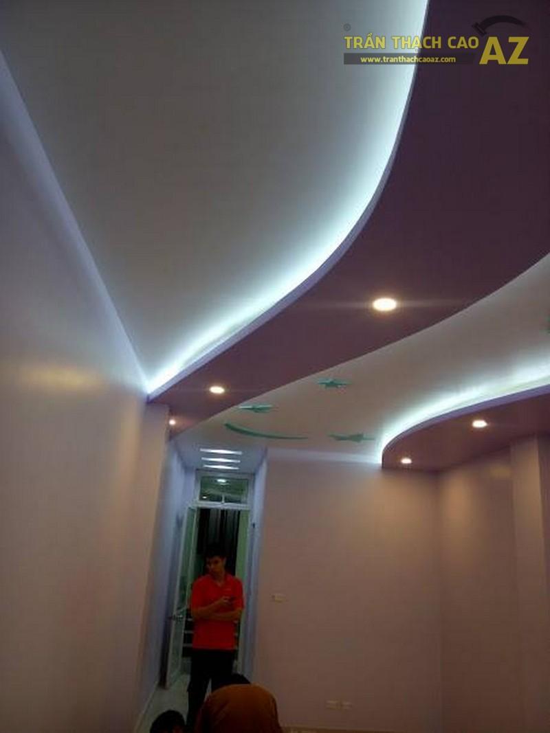 Thi công trần thạch cao nhà ống cho nhà anh Thảo, Bát Tràng, Gia Lâm, Hà Nội