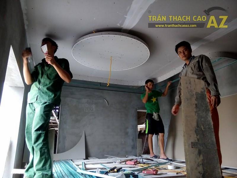 Trần thạch cao nhà ống cho nhà chị Thoa, Long Biên, Hà Nội