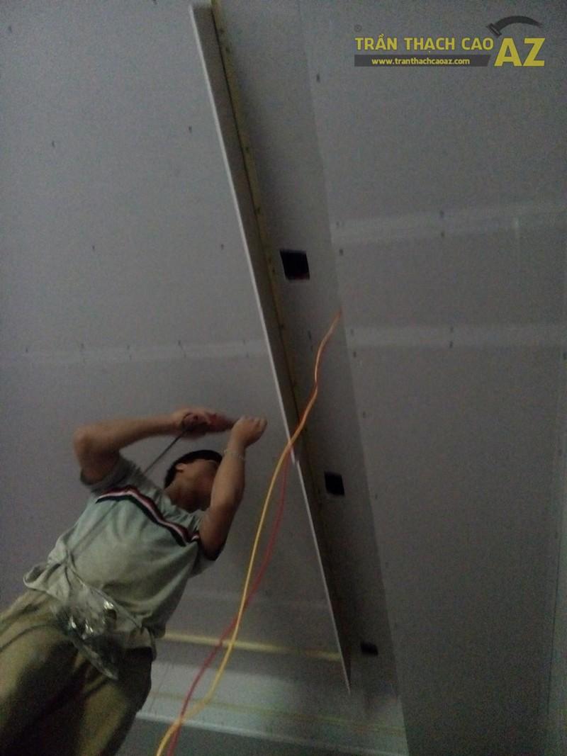 Thi công trần thạch cao cho quán Karaoke Hương Quê, Gia Lâm, Hà Nội