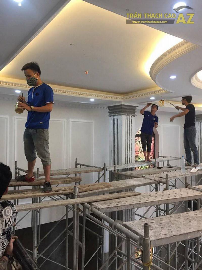 Thi công trần thạch cao cho Khách sạn Hoàng Gia, Long Biên, Hà Nội