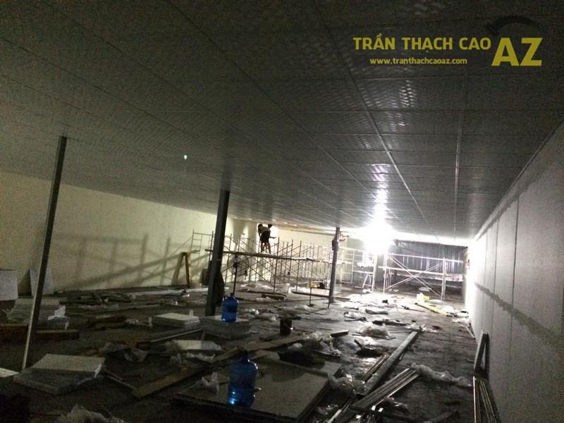 Thi công trần thạch cao cho Công ty may Hà Thành, Gia Lâm, Hà Nội