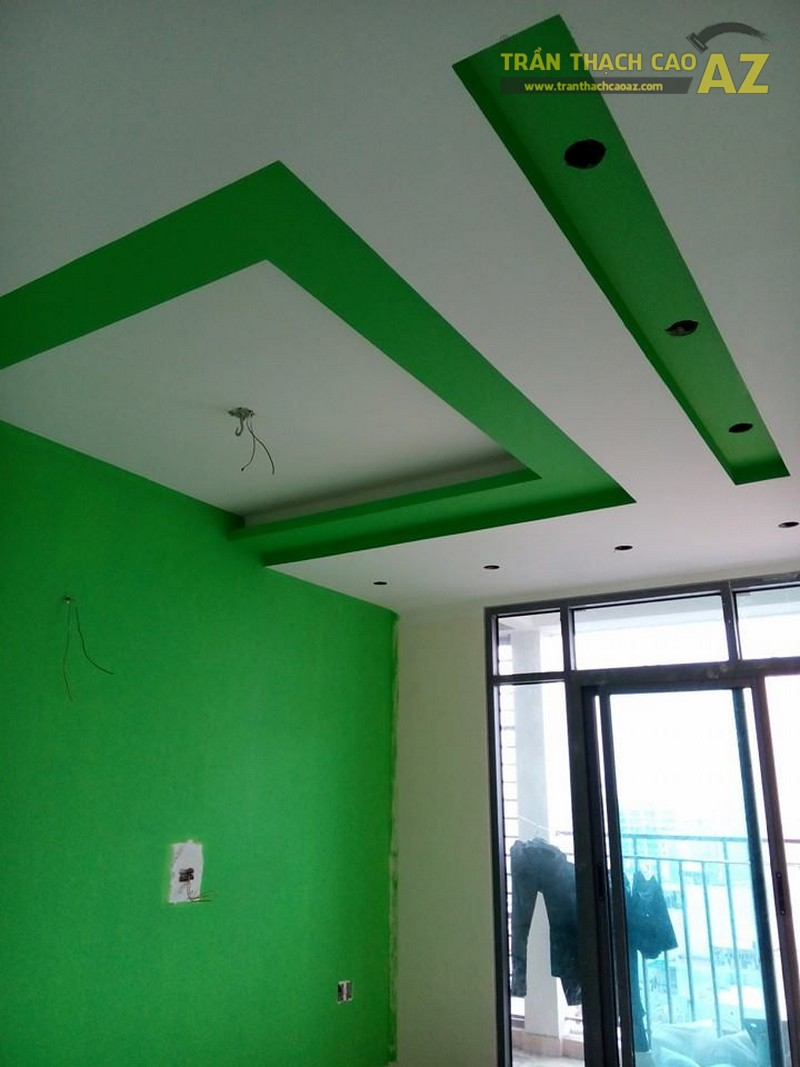 Thi công trần thạch cao cho chung cư nhà anh Hậu, CT5B, Xa La, Hà Đông, Hà Nội