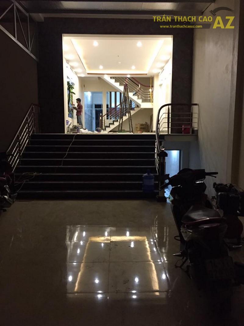 Thi công trần thạch cao nhà ống cho nhà công Nhung, Hoàng Mai, Hà Nội