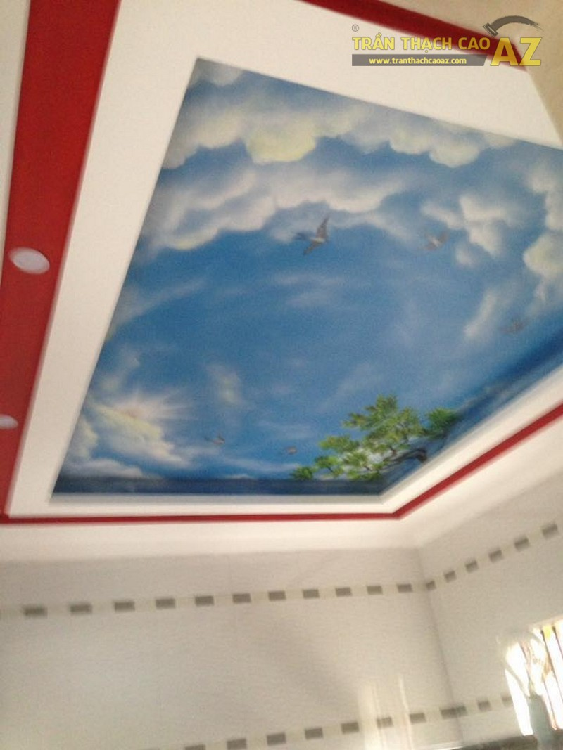 Hoàn thiện trần thạch cao phòng ngủ cho bé tại chung cư Park Hill