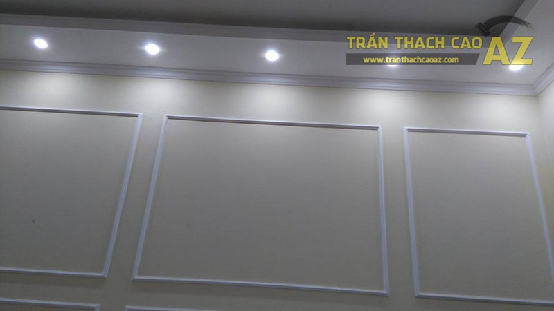 Thi công trần thạch cao nhà ống cho nhà anh Hoàn, Ngọc Hồi, Văn Điển, Hà Nội