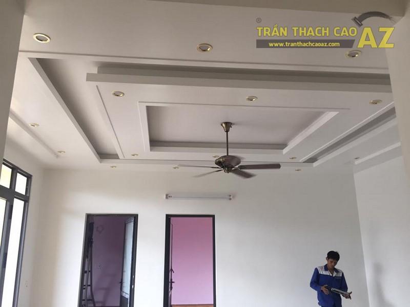 Thi công trần thạch cao cho nhà ống cho nhà anh Định, Từ Liêm, Hà Nội