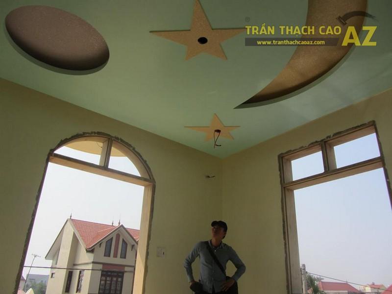 Trần thạch cao nhà ống cho gia đình chị Mẫn, Đồng Bông, Cầu Giấy, Hà Nội