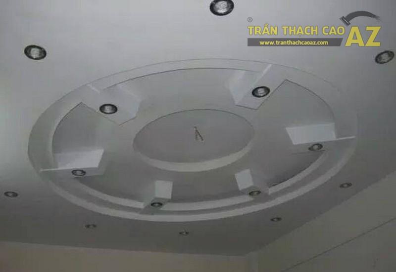 Thi công mẫu trần thạch cao giật cấp hình tròn tại Hà Nội