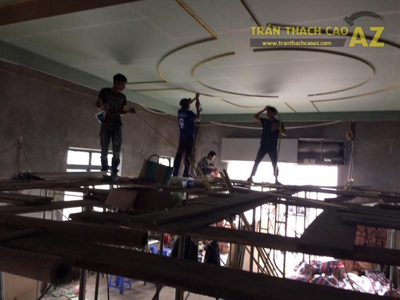 Thi công trần thạch cao tại Vincom, Lê Thánh Tông, Hải Phòng