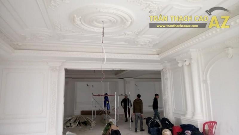 Hoàn thiện trần thạch cao cho biệt thự nhà chú Đông, Sóc Sơn, Hà Nội
