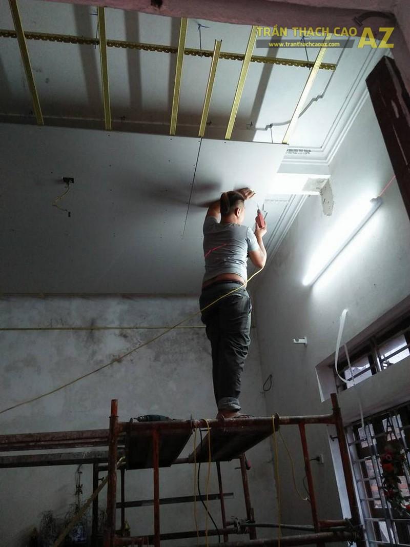 Thi công trần thạch cao cho nhà chị Diệp, Cầu Giấy, Hà Nội