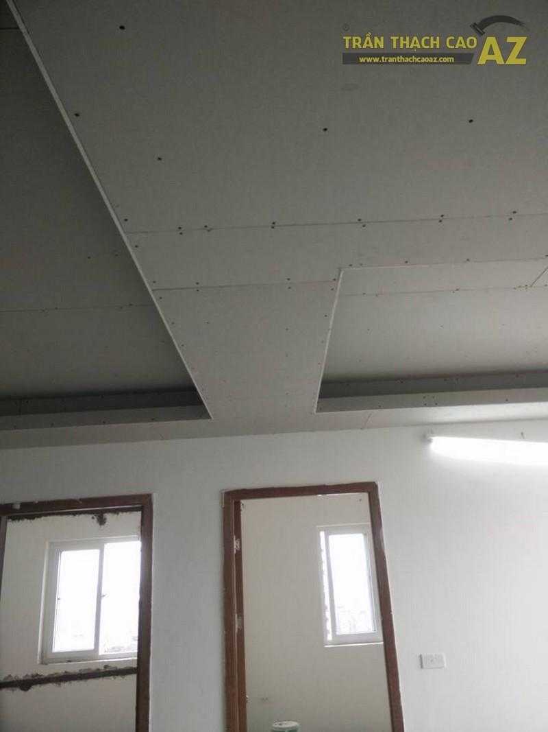 Thi công trần thạch cao tại nhà chị Mơ tại HH4C, Linh Đàm, Hà Nội