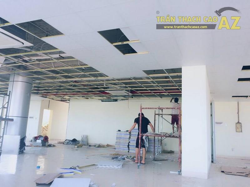 Thi công trần thạch cao cho văn phòng công ty Kobzu, Sóc sơn, Hà Nội