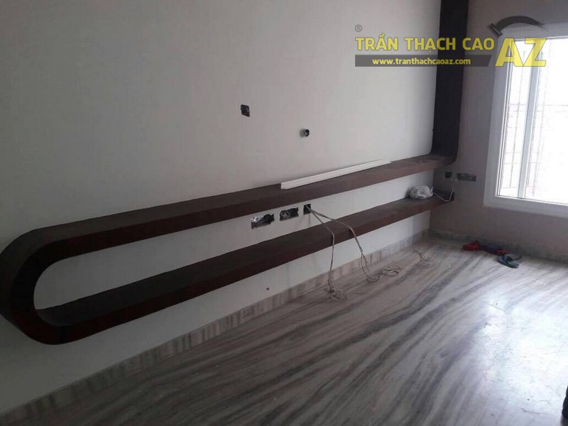 Thi công trần thạch cao giật cấp tại nhà anh Tú, Mễ Trì, Hà Nội