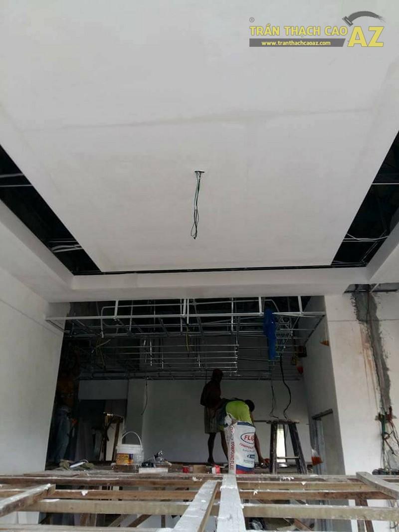 Thi công trần thạch cao tại nhà anh Khoa, Tô Hiệu, Cầu Giấy, Hà Nội