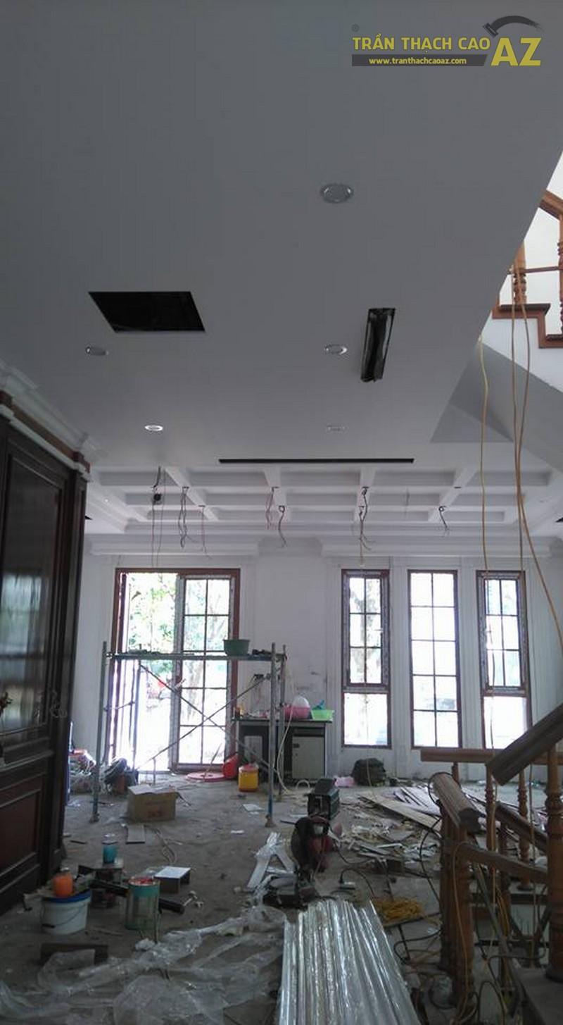 Thi công trần thạch cao tại biệt thự Hoa Anh Đào, Vinhomes Riverside cho nhà chị Trang