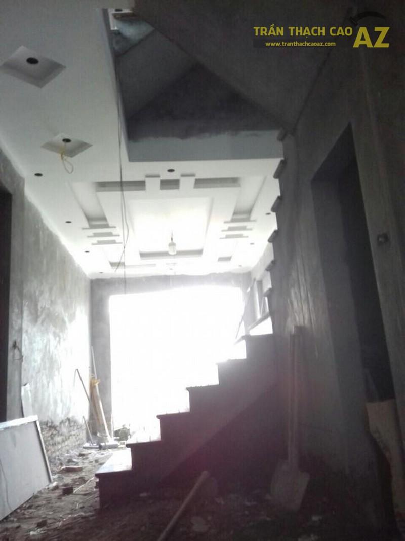 Thi công trần thạch cao tại nhà anh Quảng, Thanh Xuân, Hà Nội