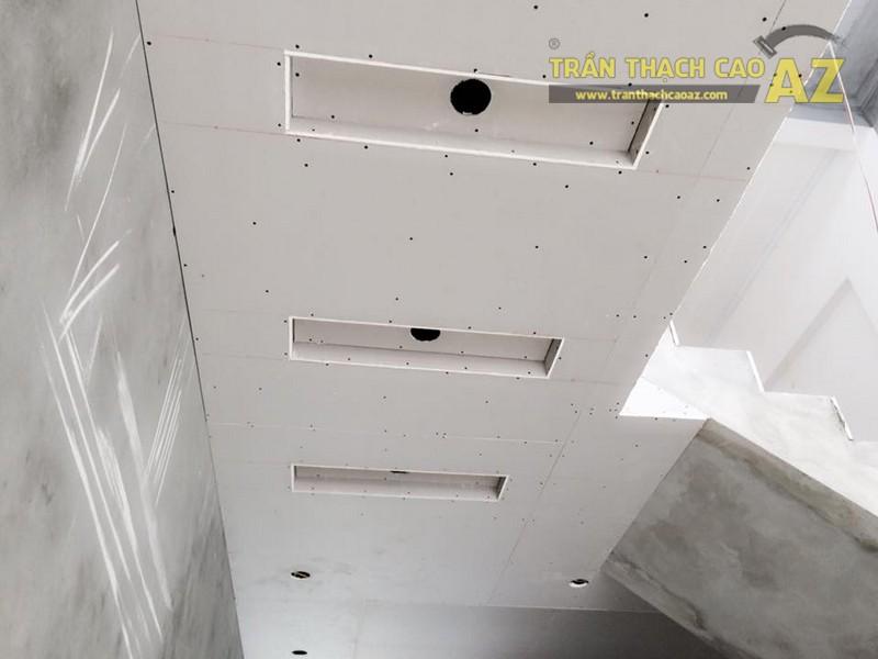 Thi công trần thạch cao tại nhà anh Vượng, Chương Dương, Hà Nội