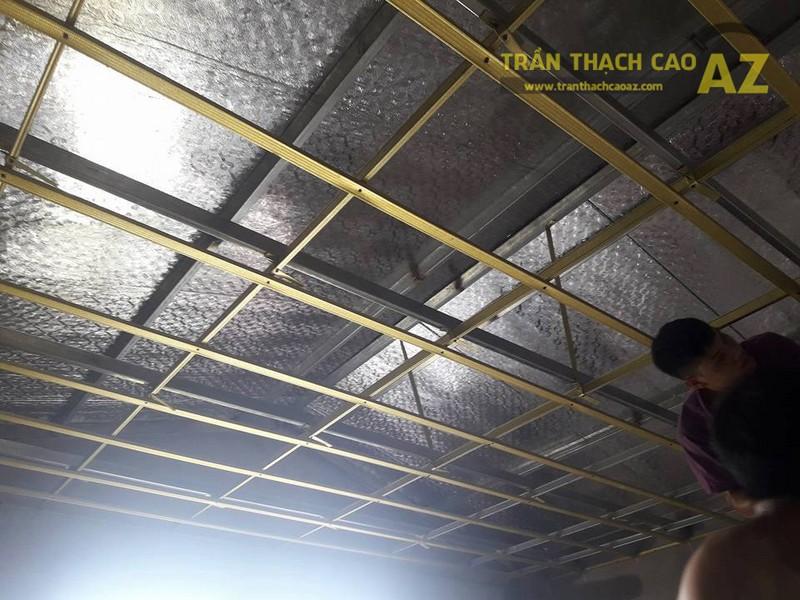 Thi công trần thạch cao cho nhà anh Minh, Ngọc Lâm, Long Biên, Hà Nội