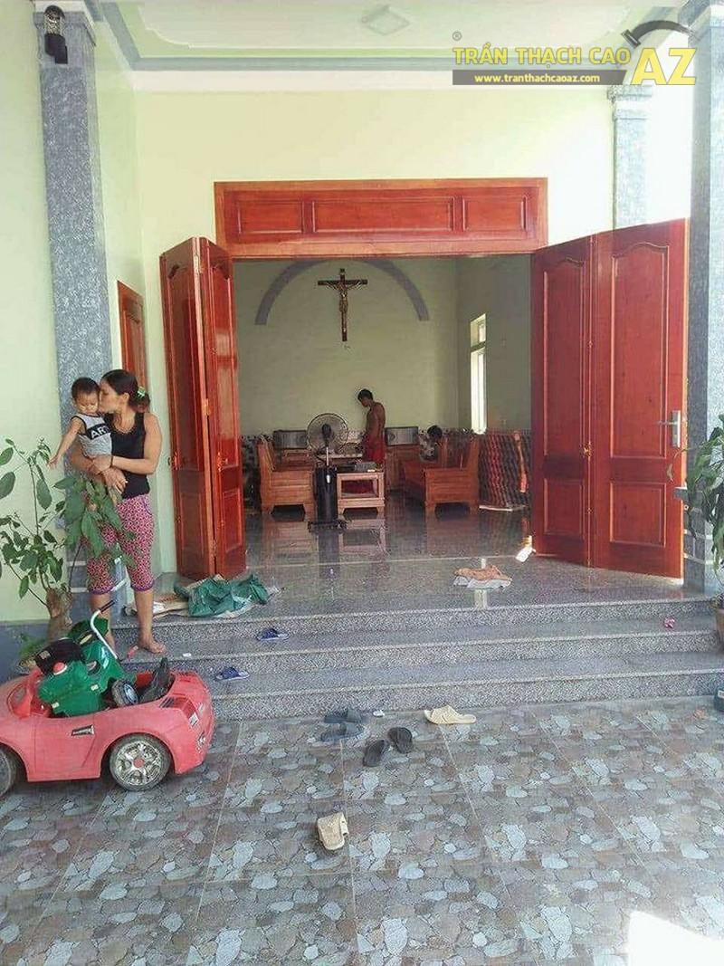 Hoàn thiện trần thạch cao cho nhà anh Báo tại Thường Tín, Hà Nội