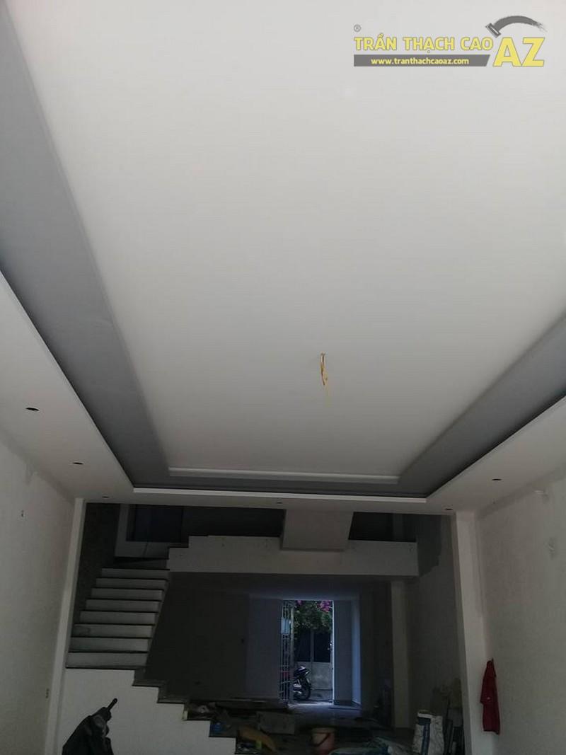 Thi công trần thạch cao phòng khách tại nhà anh Bắc, Đống Đa, Hà Nội