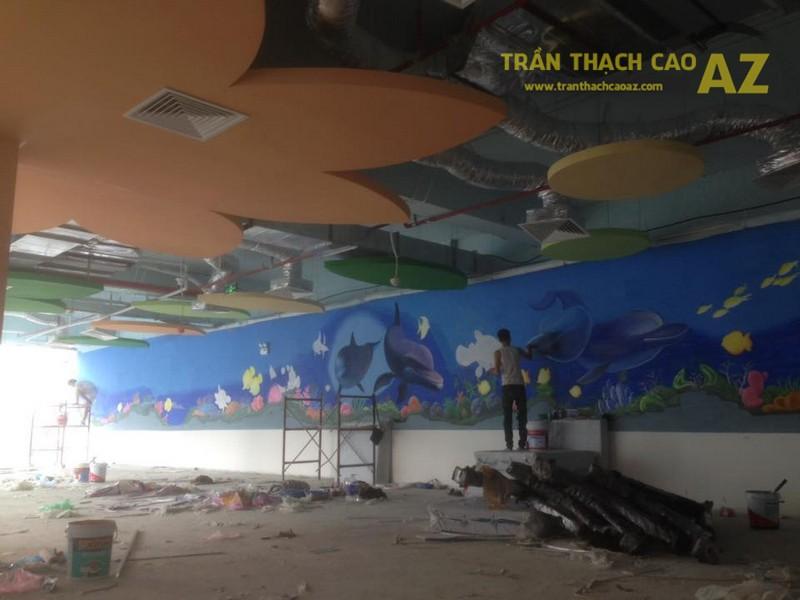 Trần thạch cao cho Khu vui chơi trẻ em Tini World Nguyễn Chí Thanh, Hà Nội