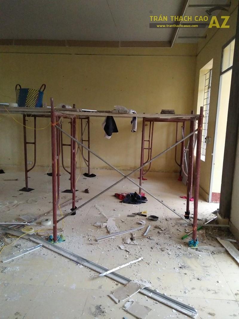 Thi công trần thạch cao tại nhà Dung tại Đông Anh, Hà Nội