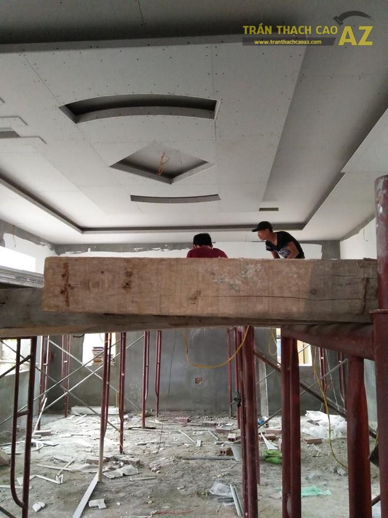 Thi công trần thạch cao tại nhà anh Hòa, Phố Huế, Hai Bà Trưng, Hà Nội
