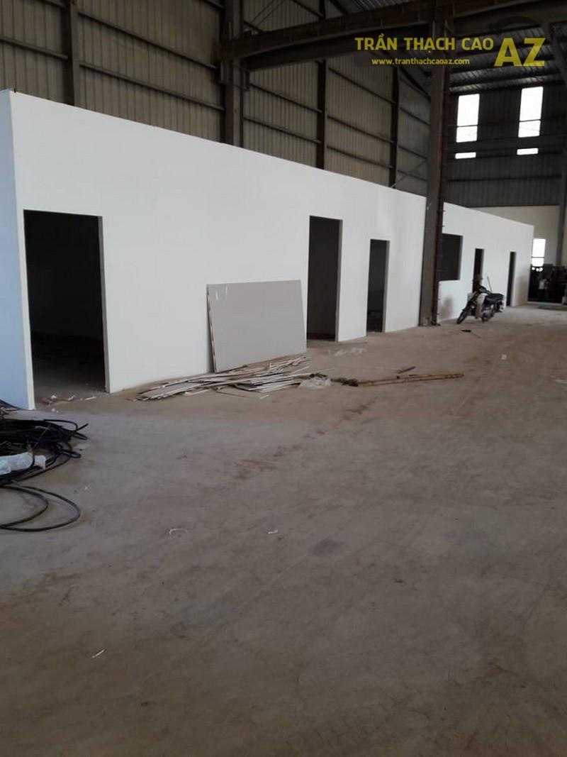 Thi công vách thạch cao cho nhà xưởng công ty Kubota, Sóc Sơn, Hà Nội