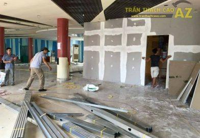 Thi công vách thạch cao cho Công ty SoGood, Đông Anh, Hà Nội