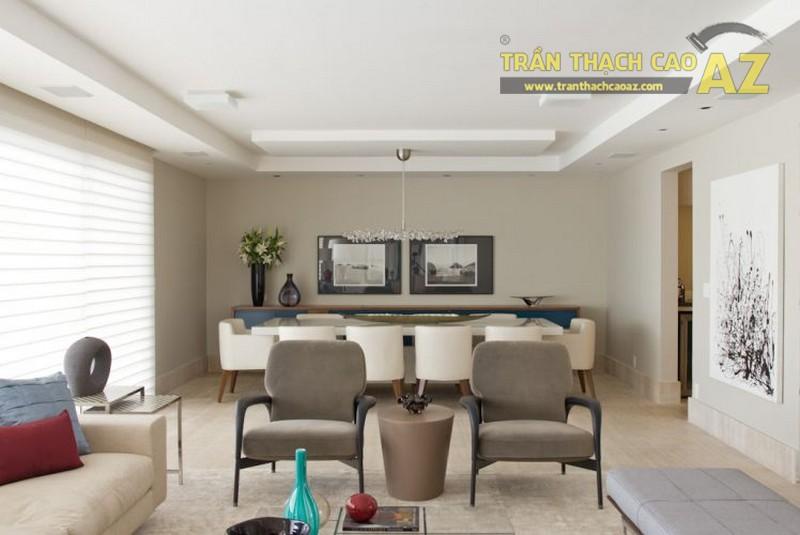 Trần thạch cao phòng khách hiện đại cho không gian nhỏ - 05
