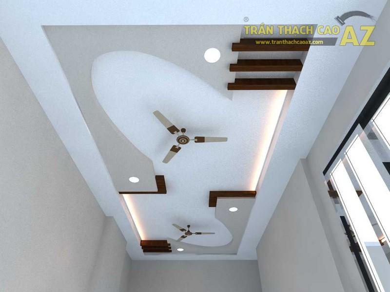 10 mẫu trần thạch cao tạo độ thoáng cho nhà ống - 07
