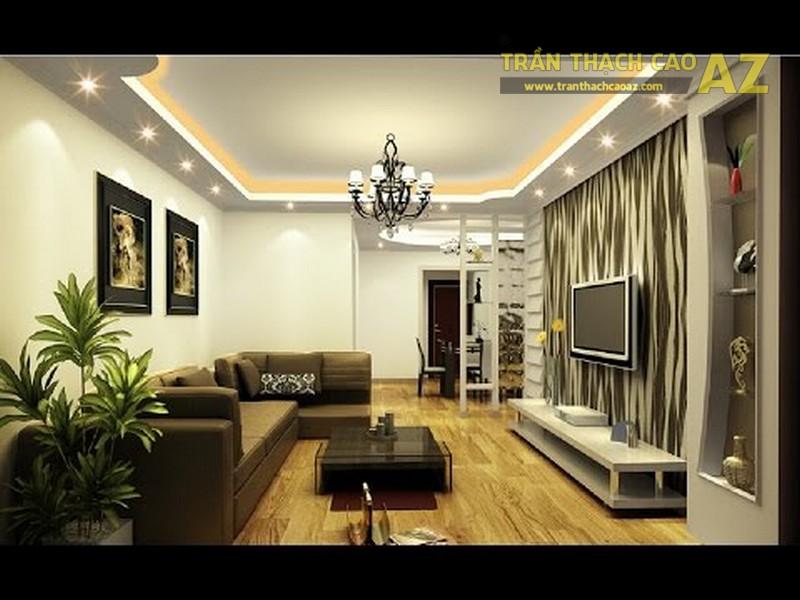 Mẫu trần thạch cao phòng khách hiện đại - 01