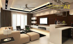 Mẫu trần thạch cao phòng khách hiện đại - 02
