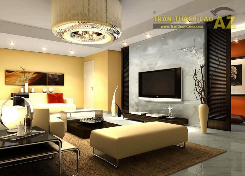 Mẫu trần thạch cao phòng khách hiện đại - 03
