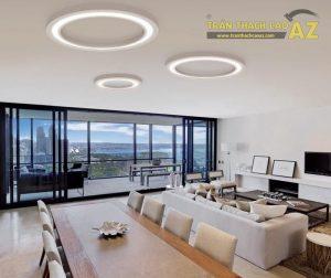 Mẫu trần thạch cao phòng khách hiện đại - 04