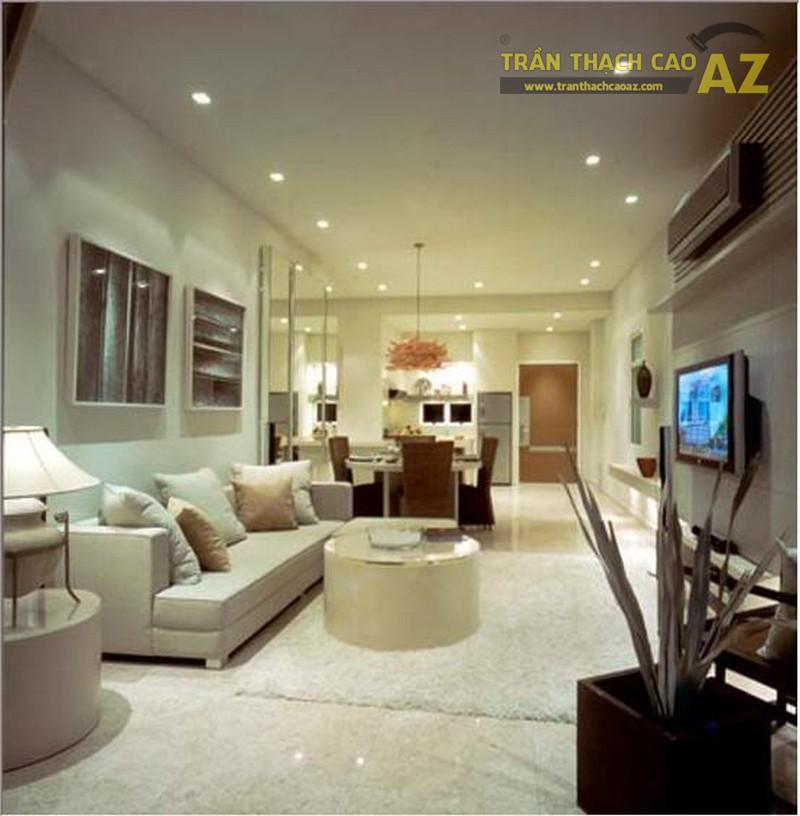 Mẫu trần phẳng có giá dưới 10 triệu cho phòng khách - 02