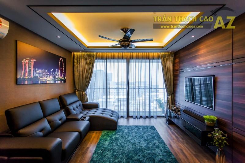 Mẫu trần thạch cao phòng khách 2019 kiểu giật cấp có giá dưới 10 triệu - 09
