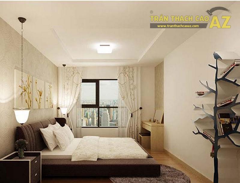 Phòng ngủ thoáng, rộng khi sử dụng trần thạch cao