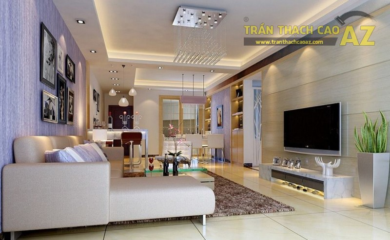 Thiết kế trần thạch cao phòng khách ấn tượng nhất 2019