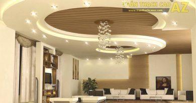 Hơn 50 mẫu trần thạch cao phòng khách đẹp, thiết kế mới 2019