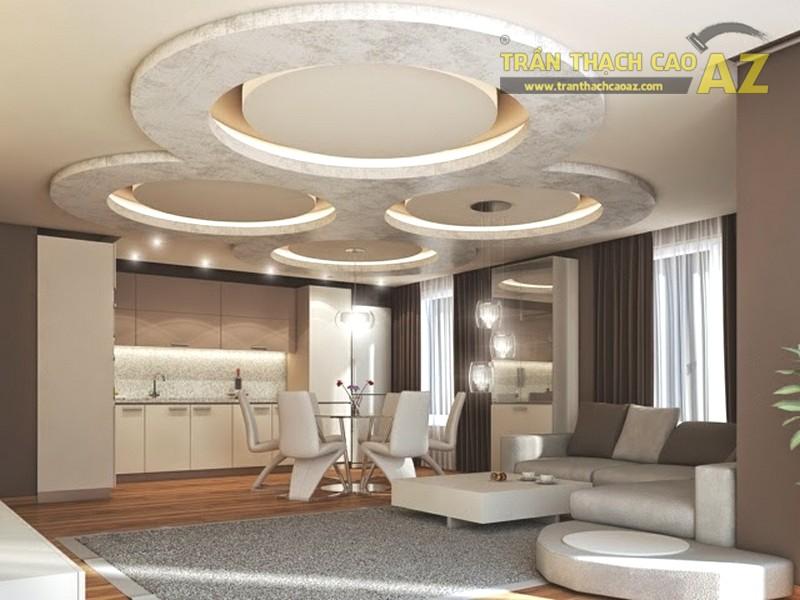 50 mẫu trần thạch cao phòng khách đẹp, thiết kế mới nhất 2019